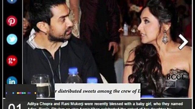 Aamir Khan celebrates the birth of Rani Mukerji's daughter