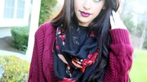 FALL Outfit & Makeup Ideas | Cranberry Lips + 2 Outfits!