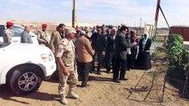 حسام المغازى وزير الرى يتفقد موقع نقل مياه النيل اسفل قناة السويس الجديدة نوفمبر2014