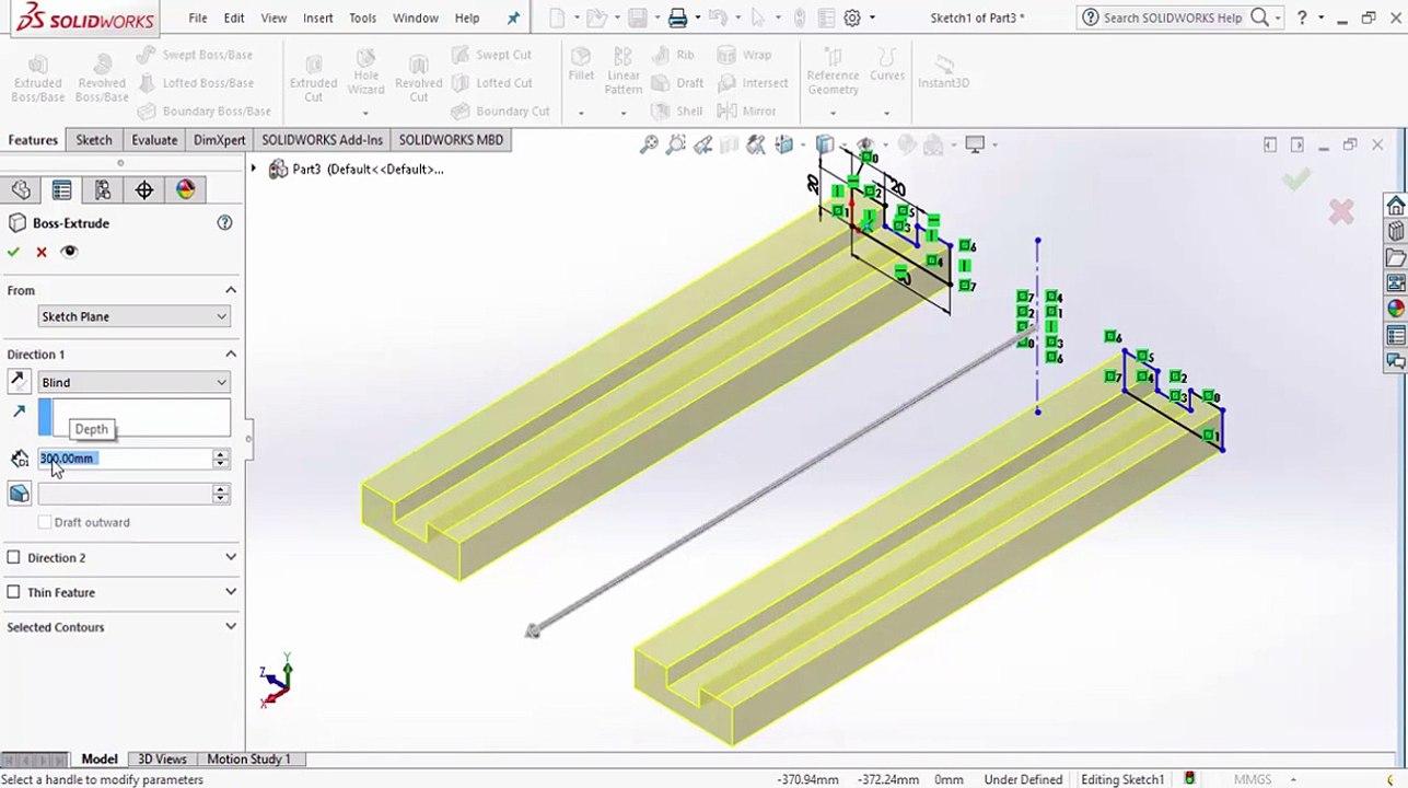 SolidWorks Crash Course Draw 2d then 3d Assemble Move Sketch 2d Print  Diementions