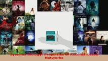 Download  Systems Biology Properties of Reconstructed Networks Ebook Online
