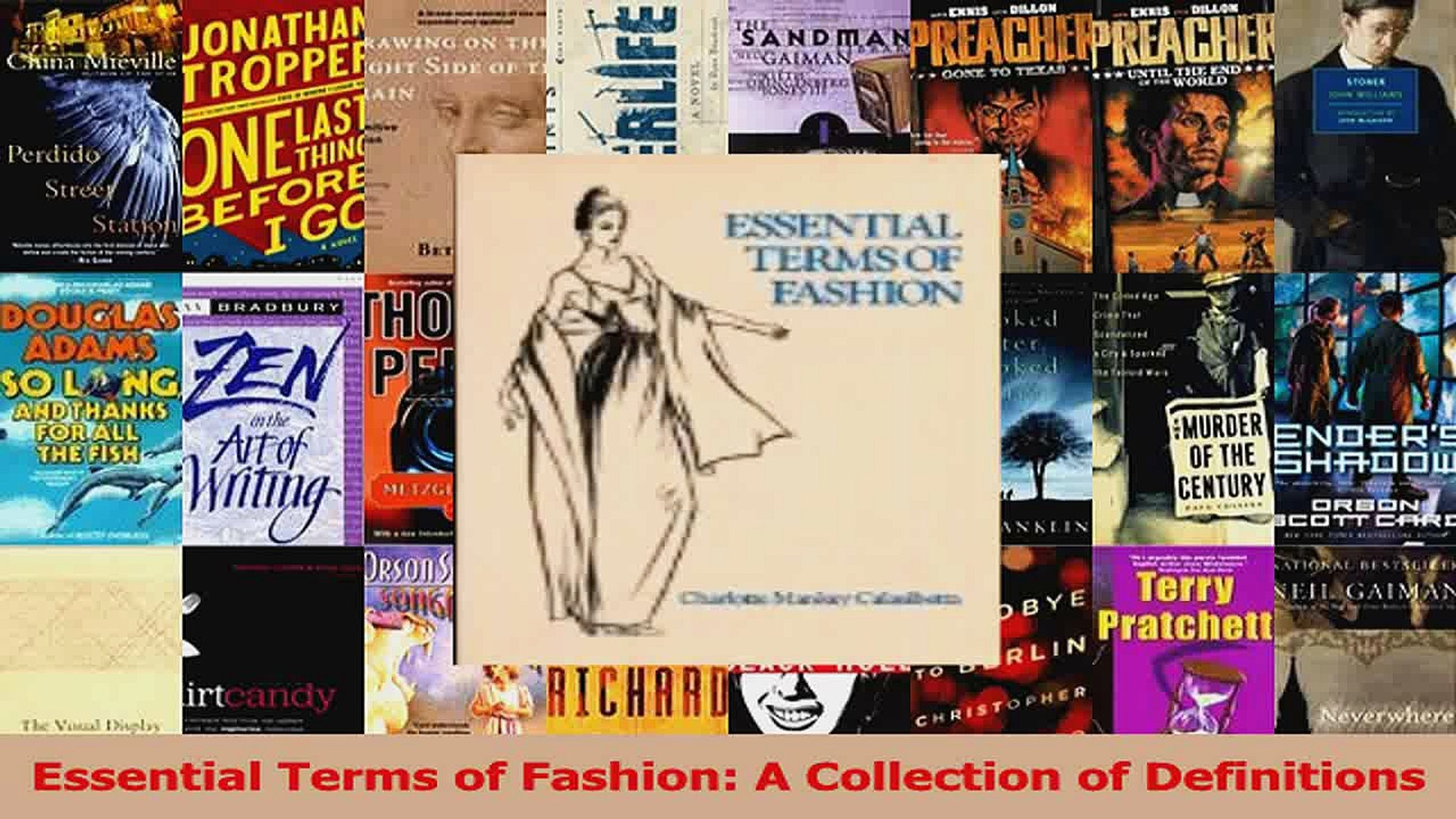 Download Essential Terms Of Fashion A Collection Of Definitions Pdf Free Video Dailymotion