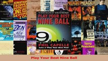PDF Download  Play Your Best Nine Ball Download Online