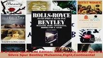 Read  RR Silver Spirit 2nd Edition RollsRoyce Silver Spirit  Silvre Spur Bentley EBooks Online