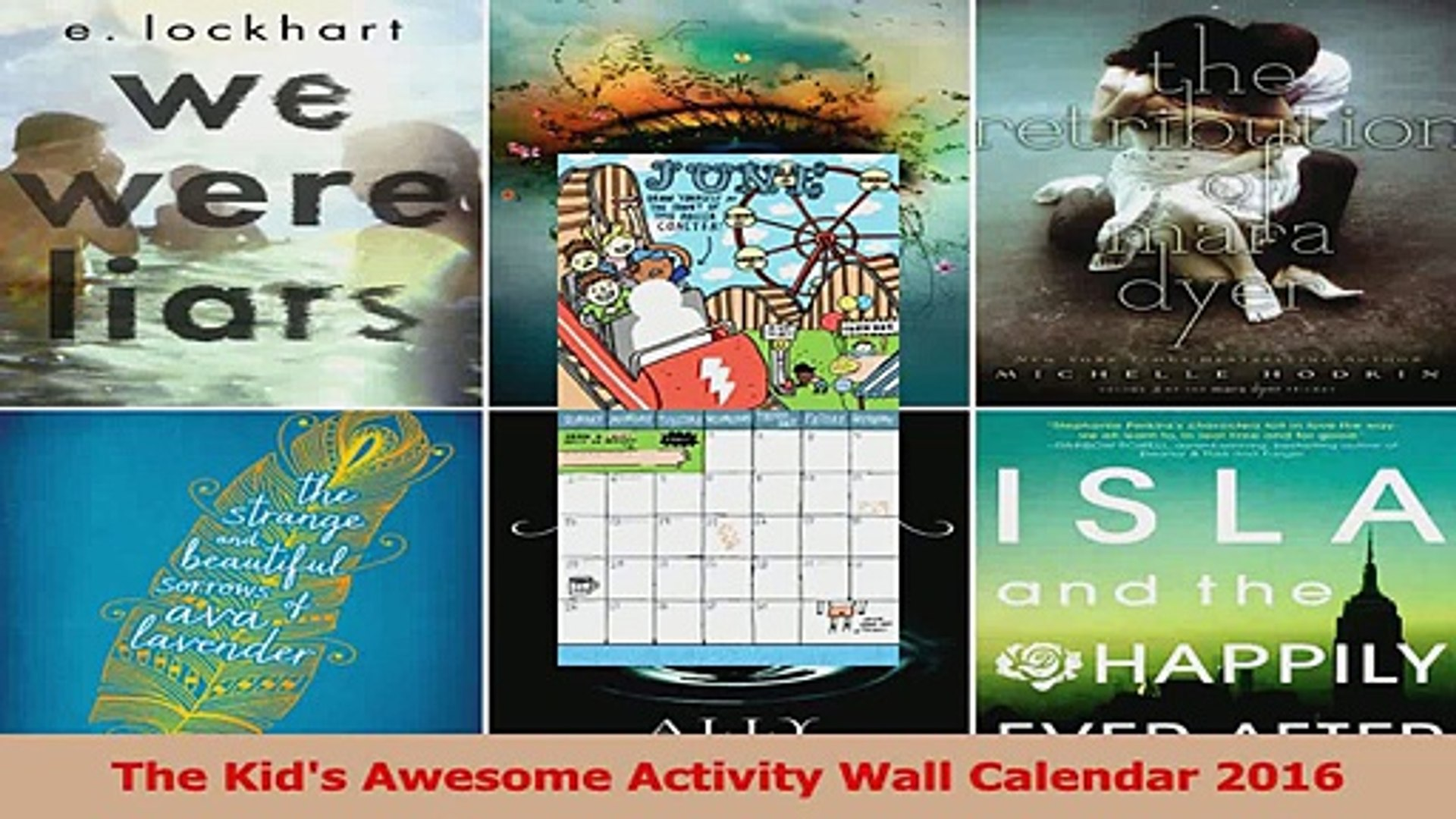 The Kids Awesome Activity Wall Calendar 2016 Download