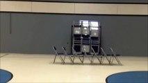 Une chaise de trop... Grosse gamelle sur un saut raté