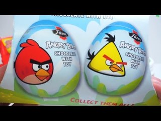 48 min Angry Birds Surprise Eggs & Toys Compilation (48min)