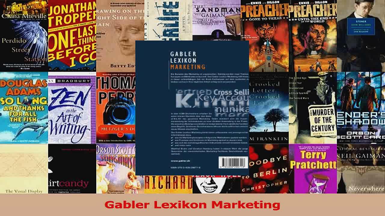 Lesen  Gabler Lexikon Marketing Ebook Frei