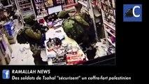 """Des soldats de Tsahal """"sécurisent"""" un coffre-fort palestinien"""