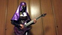 Judas Priest | Guitar cover with Latex nun - Electric Eye
