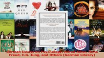German Essays on Psychology Alfred Adler Anna Freud CG Jung and Others German Library Read Online