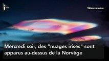 En Norvège, des nuages irisés aux couleurs de l'arc-en-ciel