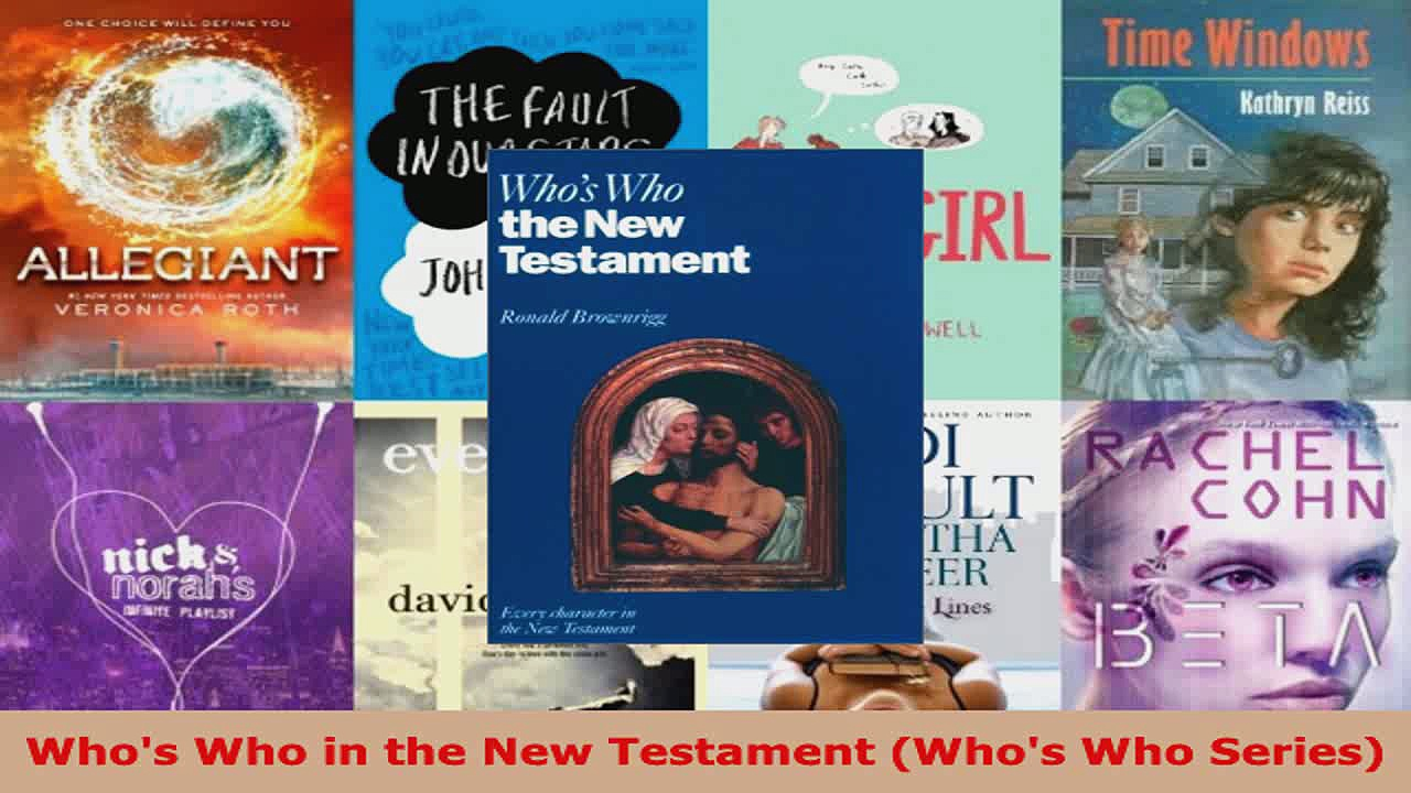 Read  Whos Who in the New Testament Whos Who Series Ebook Free