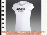 Adidas Womens Tennis T Shirt Climalite Tee WS TS Linear Tee Short Sleeve Top White Sizes XXS