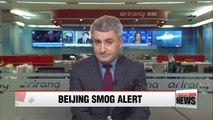 Beijing chokes under smog after second 'red alert'