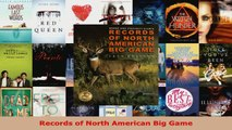 Read  Records of North American Big Game EBooks Online