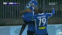 1-3 Nicolas Viola Goal Italy  Serie B - 19.12.2015, Ascoli Calcio 1-3 Novara Calcio