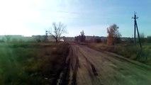 Un pilote de tank russe éméché au volant