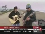 Joe Satriani with Galen Hansen doing 'Starry Night' on a San Francisco beach. Awesome/.