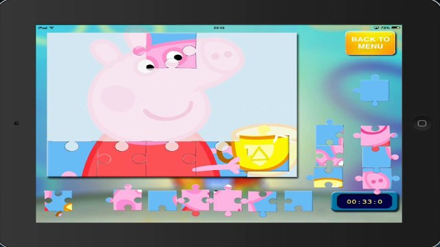 peppa gameplay PEPPA PIG puzzle 18 HD ipad english gameplay peppa pig puzzle