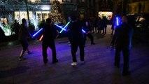 Star Wars: démonstration de combat aux sabre laser