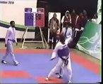 adil bin talat pakistan taekwondo champion  drop kick axe kick to kpk (chiki kick) 2010