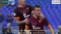 Alessandro Florenzi Goal AS Roma 1 - 0 Genoa Serie A 20-12-2015