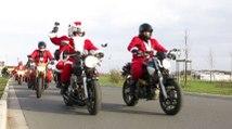 VIDEO. Plus de 200 motards de Noël dans les rues de Châteauroux