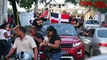 Chiquito Team Band Celebrando en Caravana su Premio Soberano