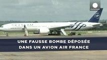 Une fausse bombe déposée dans un avion Air France