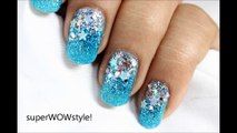 Glitter Winter Nails ❉ Elsa Frozen Nail Art ❉ Frozen Nails Tutorial DIY new