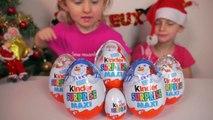 [OEUF] 5 Kinder Surprise Maxi pour Noël et un Kinder normal 5 Big Kinder Surprise Eggs