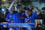 Hinchas de Emelec festejaron en Guayaquil hasta la madrugada