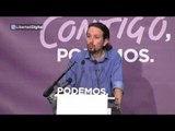 """Pablo Iglesias va a iniciar una """"ronda de contactos"""", con """"todas"""" las formaciones"""