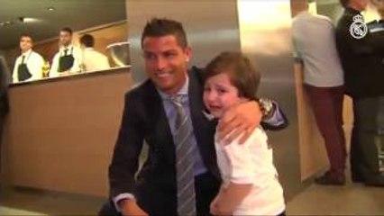 Ronaldo Meets Haider - 3 Year Old Victim of Beirut Bombing
