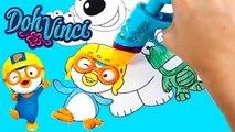 Pororo Play-Doh DohVinci Art Studio Design Pororo with Play Doh Vinci Dibujar con Plastili