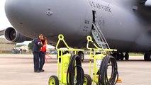 US Air Force Lockheed C 5 Galaxy Travis AFB [68 0216] Taxi and Takeoff