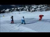 Chute en ski drôle – Glissades – Gag ski neige – Vidéo