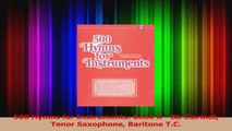 PDF Download  500 Hymns for Instruments Book A  Bb Clarinet Tenor Saxophone Baritone TC Download Online