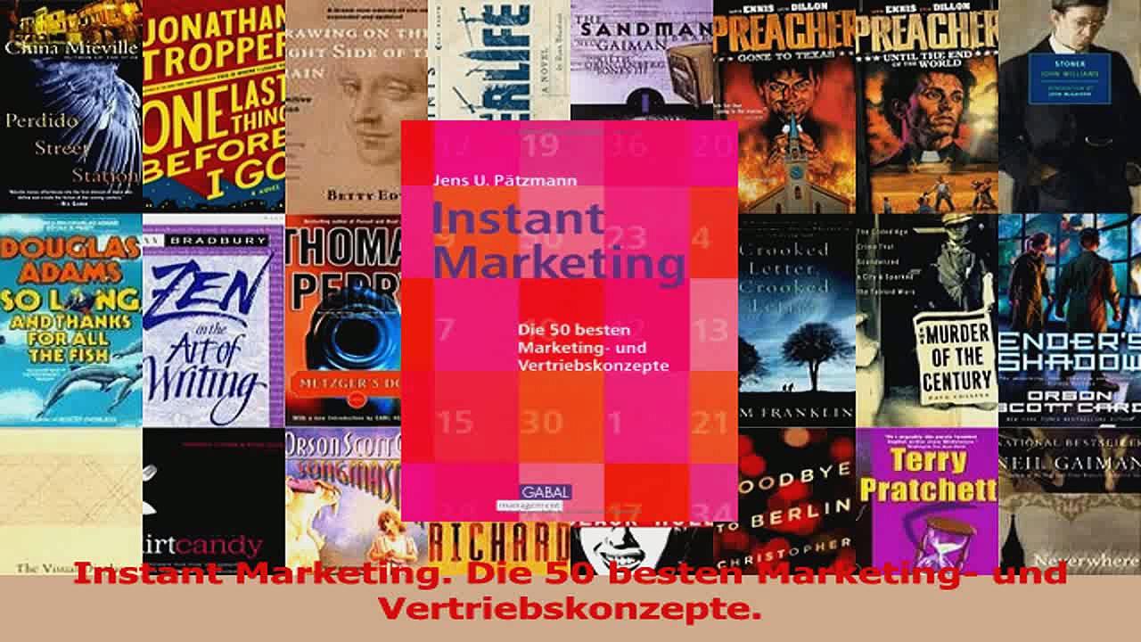 Lesen  Instant Marketing Die 50 besten Marketing und Vertriebskonzepte Ebook Frei