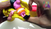 Play-Doh (Consumer Product) 4 Peppa Pig Play Doh Cans Surprise Eggs Toys Episodes (TV Program)