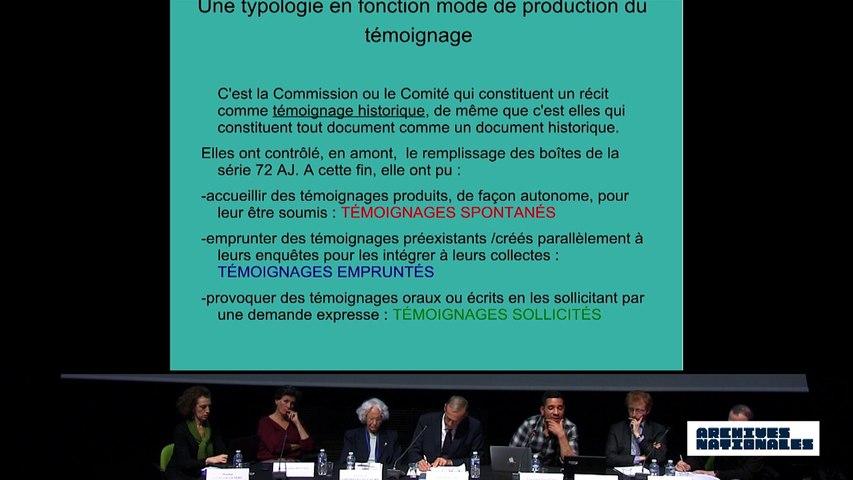 Quatrième table ronde : le témoin. Intervention d'Abdelhakim Rezgui.