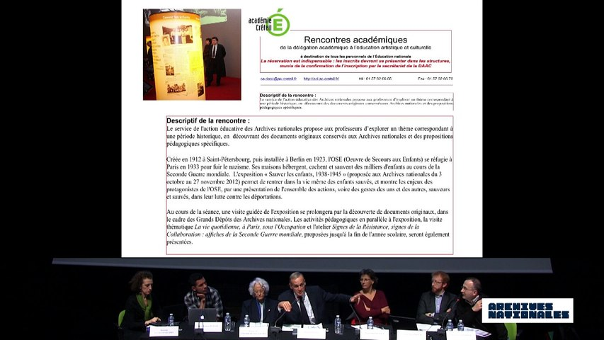Quatrième table ronde : le témoin. Intervention de Christophe Barret.