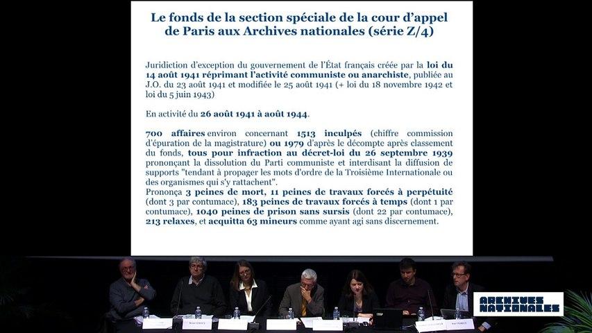 Première table ronde : la répression. Intervention de Violaine Challéat-Fonck.