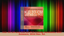 PDF Download  ICD10CM and ICD10PCS Coding Handbook with Answers 2016 Rev Ed Read Online