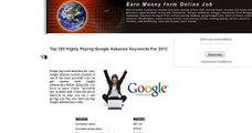 Google Adsense - High Paying Keywords
