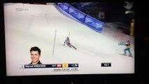 Ski alpin : un drone tombe juste derrière Marcel Hirscher !