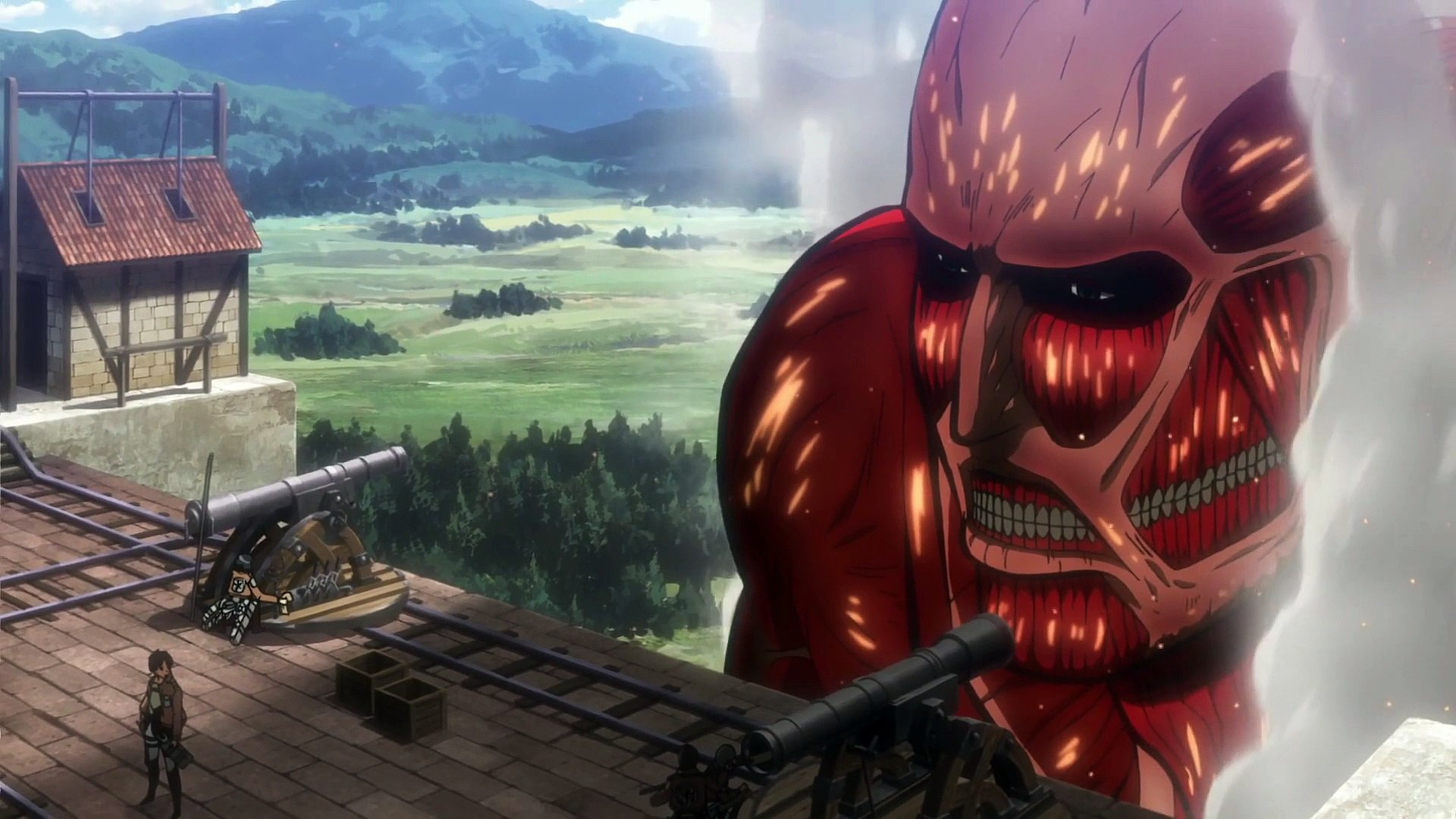 Eren Vs Colossal Titan Video Dailymotion