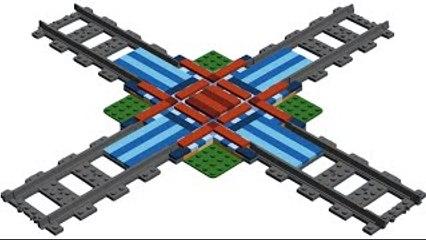 How to Build LEGO Train Rail Crossing MOC