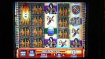 GRIFFINS GATE Penny Video Slot Machine with SUPER RESPINS and BIG WIN Las Vegas Strip Cas